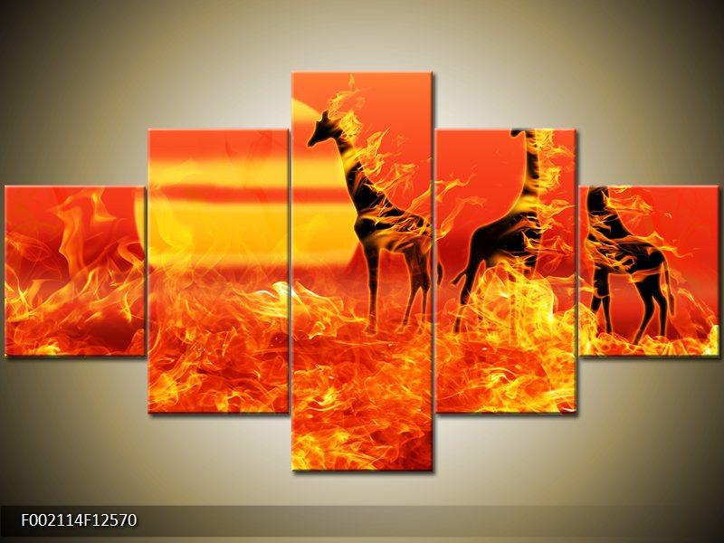 Obrazy na stenu na plátne päťdielne