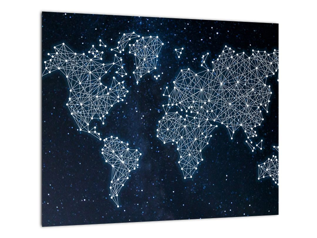 Obraz - mapa sveta