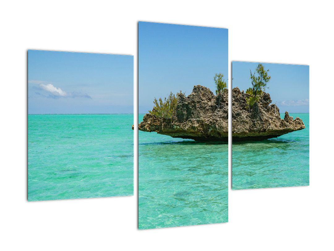 Obraz mora s ostrovčekom